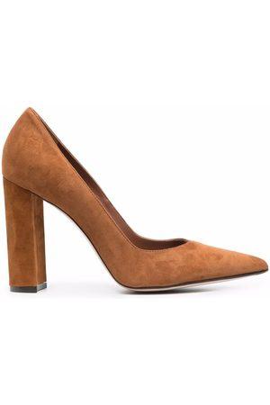 LE SILLA Block heel suede pumps