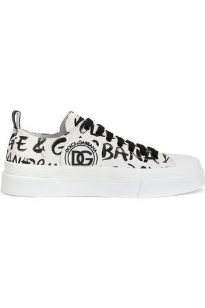 Dolce & Gabbana Tenis bajos con logo estampado