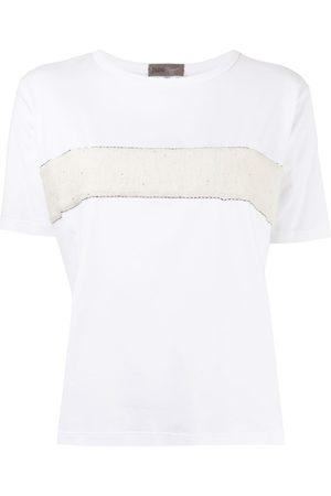 HERNO Mujer Playeras - Embellished textured-panel T-shirt