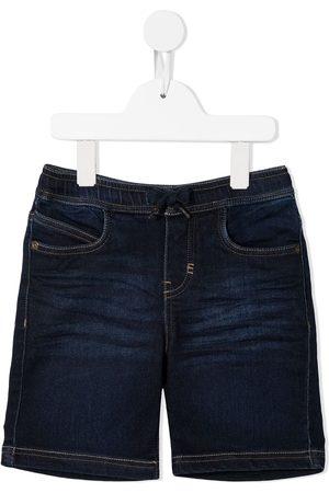 Molo Logo-patch denim shorts