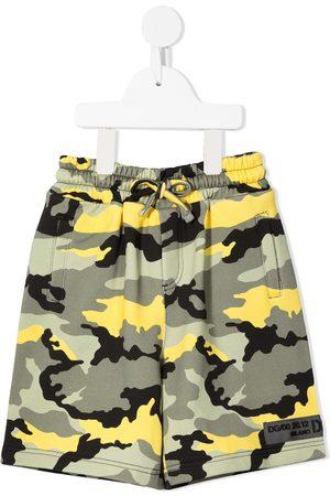 Dolce & Gabbana Camouflage logo-patch shorts