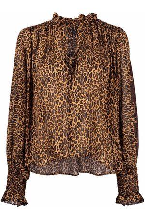 Pinko Blusa con estampado de leopardo