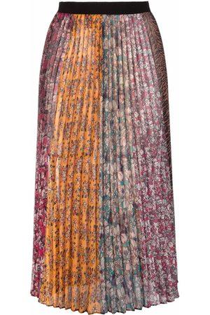 Pinko Falda plisada con estampado floral