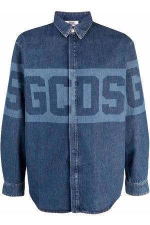 GCDS Hombre De mezclilla - Logo-print denim shirt