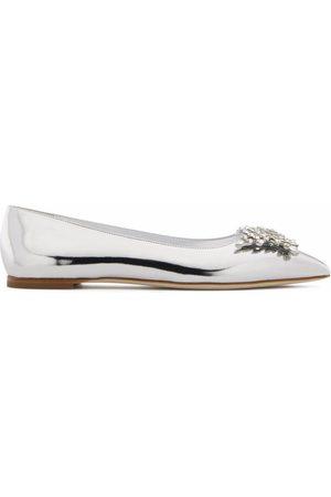 Giuseppe Zanotti Crystal-embellished patent leather shoes