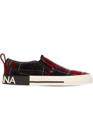 DOLCE & GABBANA Sneakers Slip-on De Tartán Aterciopelado