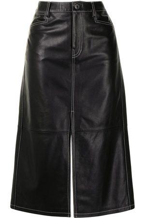 Proenza Schouler White Label Mujer Faldas - Falda recta con cintura alta