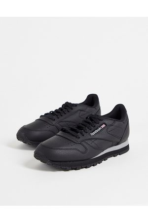 Reebok Classic Leather trainers in black and grey