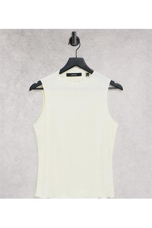 VERO MODA Lettuce hem vest top in cream