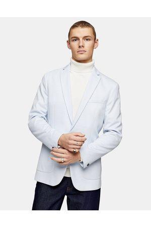 Topman Skinny single breasted blazer in light blue