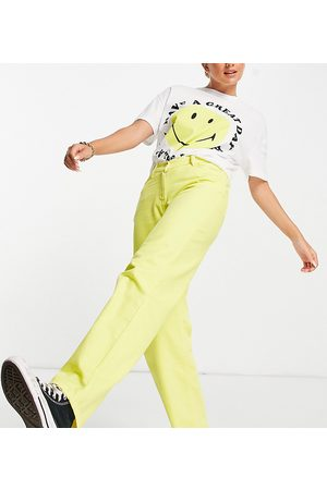 COLLUSION Mujer Jeans - X014 90s baggy dad jeans with dipped waist in yellow