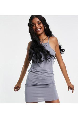 Threadbare Tall Square neck cami mini dress in grey