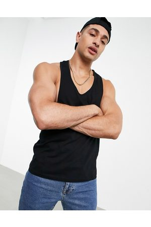ASOS Organic vest with extreme racer back in black