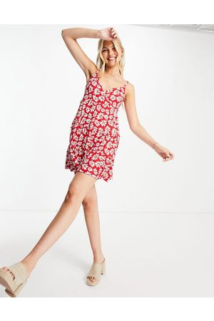 Hollister Mujer Casuales - Wrap front dress in red floral print
