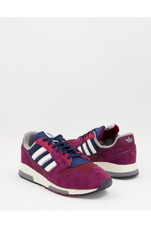 adidas ZX 420 trainers in burgundy