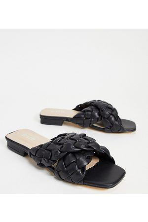 Raid Destiny plaited slide sandals in black