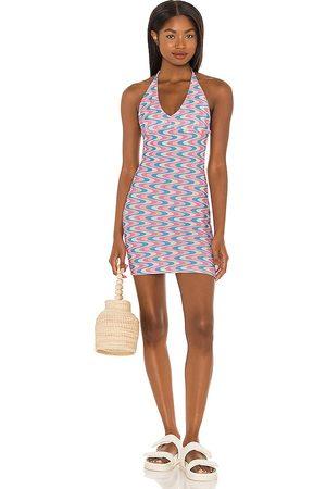 Frankies Bikinis Vestido de algodón dev en color pink,baby blue talla L en - Pink,Baby Blue. Talla L (también en S