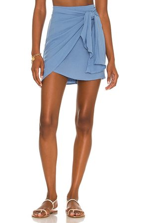 Indah Cassiel sarong mini skirt en color azul talla L en - Blue. Talla L (también en S, XS, M).