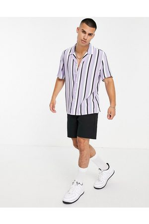 New Look Short sleeve striped shirt in blue