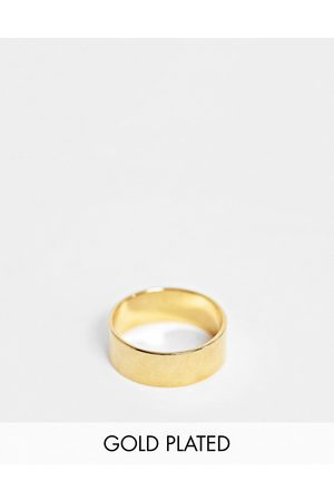 ASOS DESIGN Band ring with 14k gold plate