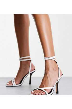 Raid Wide Fit Alayna heeled sandals in mono mix