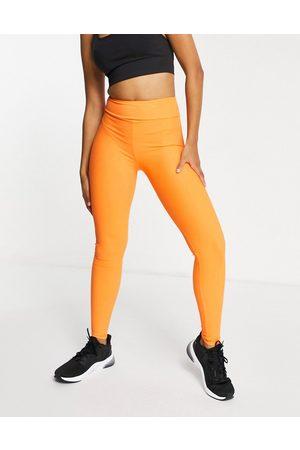 South Beach Mujer Leggings - Fitness rib leggings in orange