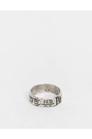 ASOS Band ring with chinese characters in silver tone