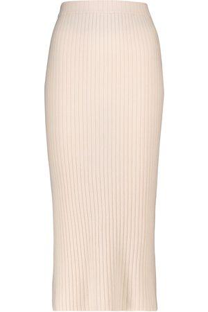 Jardin des Orangers Ribbed cashmere skirt