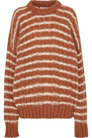 Plan C Mujer Suéteres - Striped mohair-blend sweater