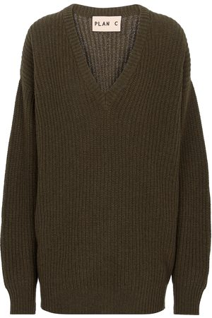 Plan C Cashmere and wool V-neck sweater