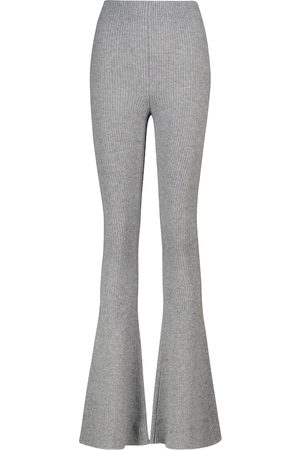 Alanui Sierra ribbed-knit flared pants