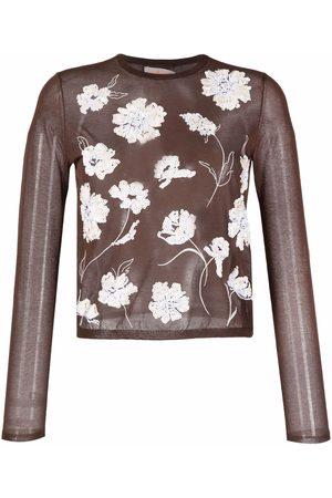 Tory Burch Top tejido con bordado floral