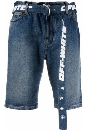 OFF-WHITE Pantalones vaqueros cortos con cinturón