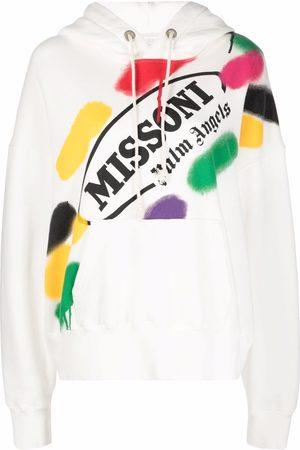Palm Angels Sudadera con capucha y logo de x Missoni