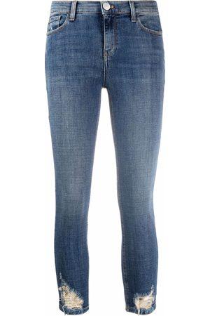 Pinko Jeans capri con efecto envejecido