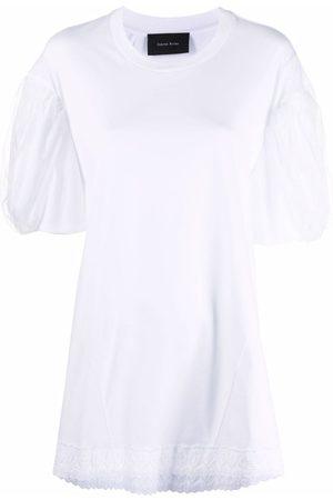 Simone Rocha Camiseta con borde festoneado