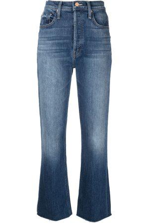 Mother Jeans rectos con tiro alto