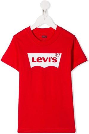 Levi's Playera con cuello redondo y logo