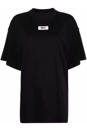 MM6 MAISON MARGIELA Camiseta oversize con parche del logo