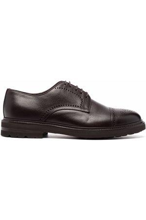 Henderson Baracco Zapatos oxford con puntera de almendra
