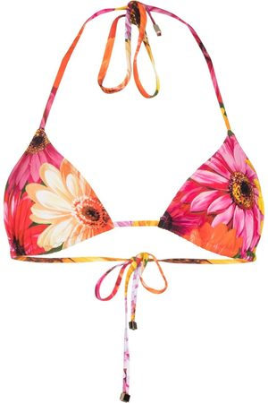 Dolce & Gabbana Top de bikini de triángulo con motivo floral
