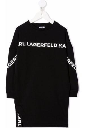 Karl Lagerfeld Vestido tipo sudadera con franja del logo