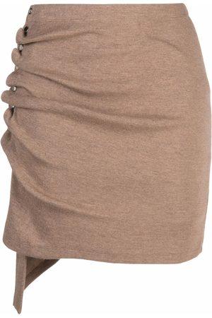 Paco rabanne Mujer Faldas - Falda asimétrica de punto fino