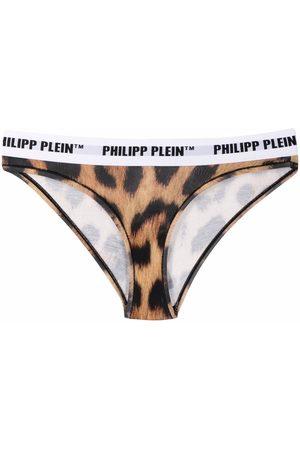 Philipp Plein Tanga slip-on con motivo de leopardo