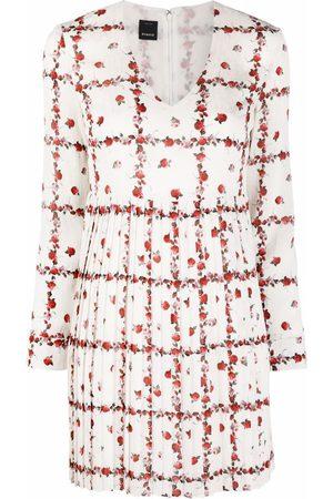 Pinko Vestido corto con motivo de rosas