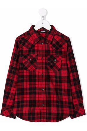 Diesel Kids Niño Camisas - Camisa a cuadros con botones