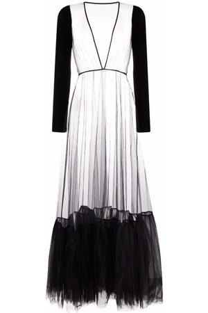 Alchemy Mujer Vestidos - Vestido semitranslúcido con volantes