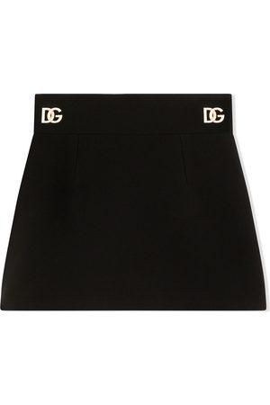 Dolce & Gabbana Minifalda con placa del logo
