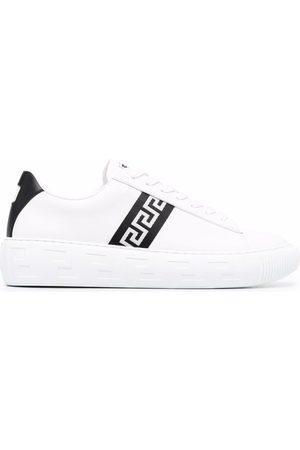VERSACE Greca stripe low-top sneakers