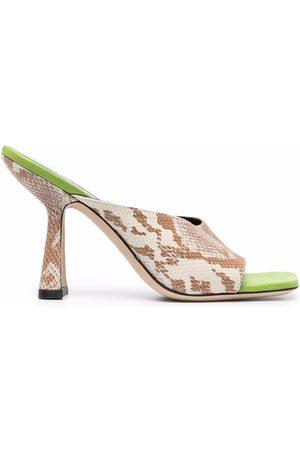 BY FAR Snakeskin-effect sandals